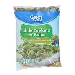 Chile Poblano Great Value En Rajas 500 g