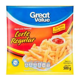 Papas A La Francesa Great Value Corte Regular 500 g