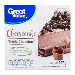 Pay Congelado De Queso Great Value Triple Chocolate 907 g