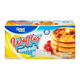 Waffles Great Value Sabor Mantequilla 10 U De 35 g C/U