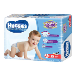 Pañales Huggies Ultraconfort Etapa 3 Niño 60 U