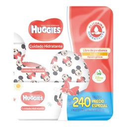 Toallitas Húmedas Huggies Cuidado Hidratante 3 Paquetes