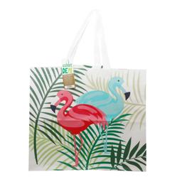 Bolsa Verde Great Value Flamingos 1 U