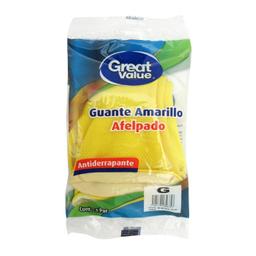 Great Value Guantes de L�tex Amarillo Afelpado