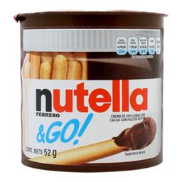 Crema de Avellana Nutella & Go Con Palitos de Pan