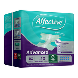 Pañal Desechable Para Adulto Affective Advanced Grande 10 U