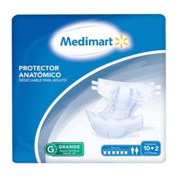 Protector Para Incontinencia Medimart Anatómico Grande 12 U