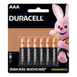 Pilas Duracell Aaa 1 Paquete Con 6 U