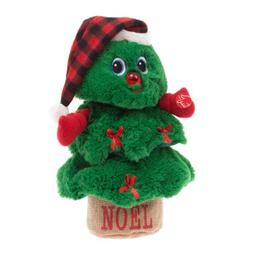 Peluche Holiday Time Animado Árbol De Navidad Verde