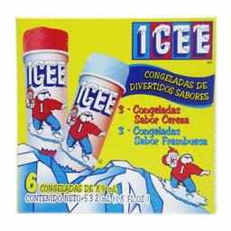 Congeladas Icee Sabor Cereza y Sabor Frambuesa x 6
