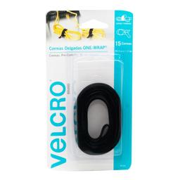 Correa Delgada Velcro Negro 20.3 X 1.2 Cm 1 U