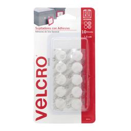 Sujetadores Con Adhesivo Velcro Blanco 1.5 Cm 10 U