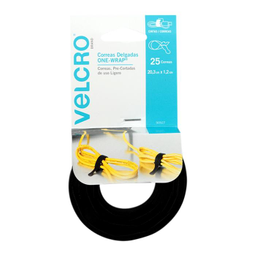 Correas Velcro Delgadas 20.3 X 1.2 Cm 25 U