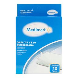 Gasa Medimart Esterilizadas 7.5X5 C/12 U