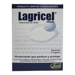 Lagricel 4 Mg/mL Solución Oftálmica 20 Dosis De 0.5 mL C/U