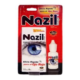 Solución Oftálmica Nazil Para Los Ojos Rojos 15 mL
