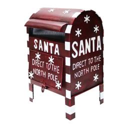 Artículo Decorativo Holiday Time Buzón De Cartas Rojo