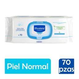 Toallitas Mustela Para Cara Cuerpo Y Pompis Piel Normal 70 U