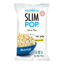 Palomitas De Maíz Slim Pop Sabor Natural Sal De Mar 110 g