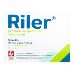 Riler Solución Para Nebulización 0.5 Mg 2.5 Mg/2.5 mL