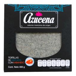 Tortilla Azucena De Maíz Azul Con Habanero 483 g