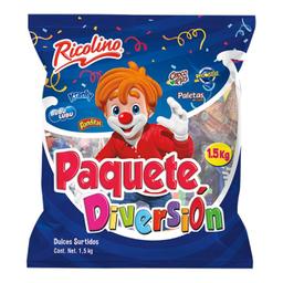 Pack Ricolino Diversión Dulces Surtidos 1.5 Kg