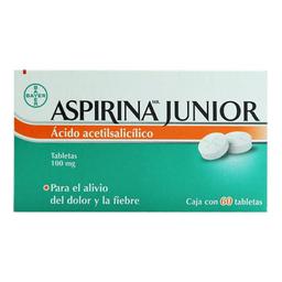 Aspirina Junior 60 Tabletas (100 mg)