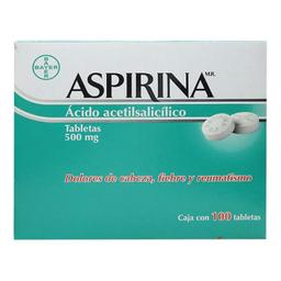 Aspirina 100 Tabletas (500 mg)