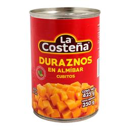 Duraznos La Costeña Cubitos en Almíbar 425 g