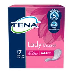 Toalla Femenina Tena Para Incontinencia Lady Discret Delgada 7 U