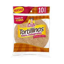 Tortilla Tía Rosa Tortillinas 100% Integrales 10 U