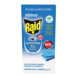 Insecticida Raid Laminitas Mata y Repele Mosquitos 16 U