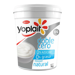 Yoghurt Yoplait Doble Cero Natural 1 Kg