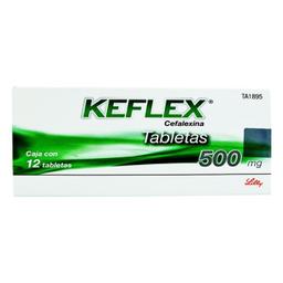 Keflex 12 Tabletas (500 mg)