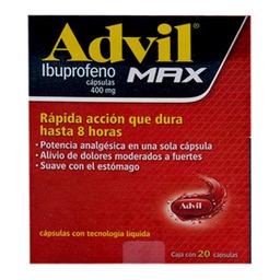 Advil Max 20 Cápsulas (400 mg)