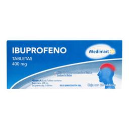 Ibuprofeno 20 Tabletas (400 mg)