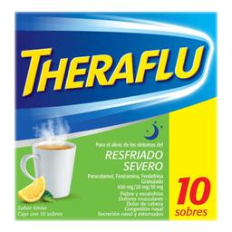 Theraflu Exthegran Sabor Limón 10 U (650 mg/20 mg/10 mg)