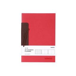 Cuaderno A5 de Gamuza Rojo Con Listón 21x143 cm 1 U