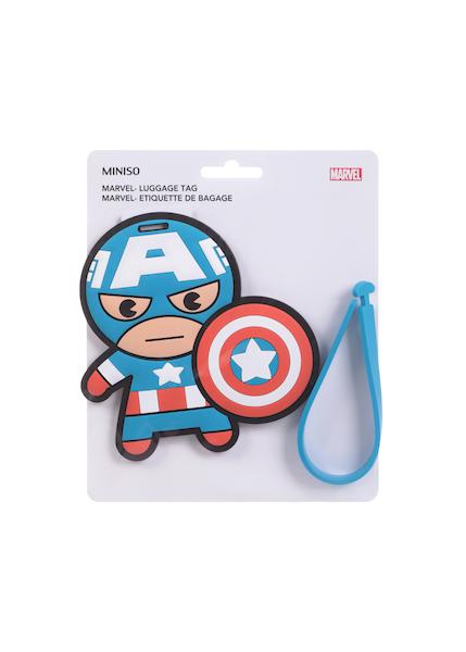 Etiqueta Para Equipaje Figura Capit�n America Marvel 1 U
