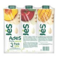 Bebida de soya Ades 3 pack de 946 mL