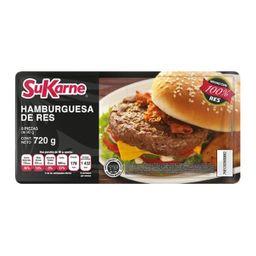 Carne De Res Para Hamburguesa Sukarne 8 U 720 g