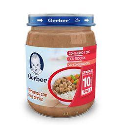 Papilla Gerber Etapa 3 Verduras Con Carne y Arroz