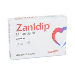 Sanfer Zanidip 30 Tableta(s)Clorhidrato de lercanidipino 10 mg