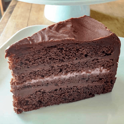 Pastel Devils Food Chocolate Rebanada