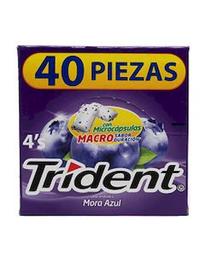 Chicle Trident Mora 40 U