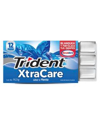 Chicle Trident Xtra Care Menta 195.6 g
