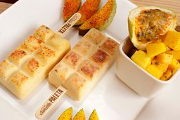 Maracuyá con mango y tajín