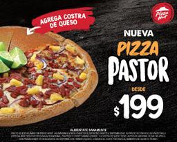 Pizza Pastor + costra de queso por $49