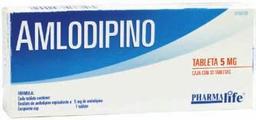 Amlodipino Pharmalife 30 Tabletas (5 mg)