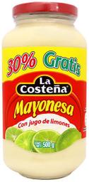 Mayonesa La Costeña con Jugo de Limón 385 g